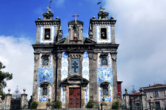 Portugal, Oporto; the ancient church of Carmo Stock Image