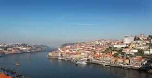 Portugal, Oporto, vista del río de la ciudad y del ` s del Duero Foto de archivo libre de regalías