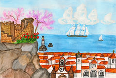 Portugal, painting Royalty Free Stock Images