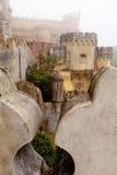 Portugal, palacio de Pena, Sintra, residencia real de príncipe Ferdinand imagen de archivo