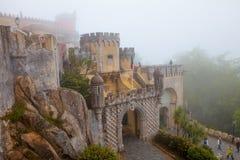 Portugal Pena slott, Sintra, kunglig uppehåll av prinsen Ferdina Royaltyfri Bild