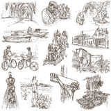 Portugal. Pictures of Life. Freehands. Royalty Free Stock Photos