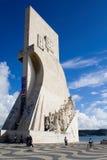 Portugal pomnikowy odkrycia Lizbońskiego morza Zdjęcia Royalty Free