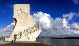 Portugal pomnikowy odkrycia Lizbońskiego morza Zdjęcie Royalty Free