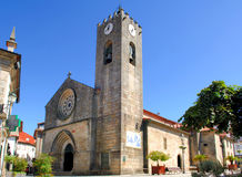 Portugal, Ponte de Lima:roman Church. Portugal, Ponte de Lima: blue sky and an ancient roman Church royalty free stock photo