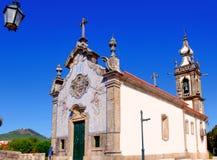 Portugal, Ponte de Lima: San Antonio church. Portugal, Ponte de Lima: blue sky and the San Antonio church royalty free stock image