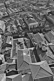 Portugal. Porto. Aerial view over the city. In black and white Stock Photo