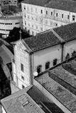 Portugal. Porto city. Historical part of Porto in black and whit Royalty Free Stock Image