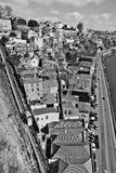 Portugal. Porto city. Old historical part of Porto. In black and Stock Images
