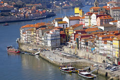 Portugal. Porto city. View of Douro river embankment Royalty Free Stock Photography