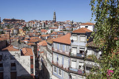 Portugal, Porto. Colorful old houses in the Ribeira district of Porto. Some with tiled facades Royalty Free Stock Image
