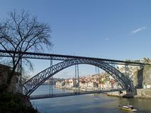 Portugal Porto Dom Luis Bridge Stock Photography