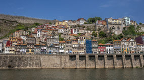 Portugal , Porto,the embankment of  Duora river Stock Photos