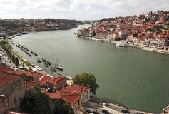 Portugal, Porto; mening van de oude stad stock foto