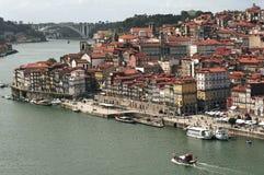 Portugal, Porto; mening van de oude stad stock foto's