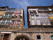 Portugal Porto Ribeira old houses Stock Photography