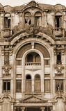 portugal Porto stad Oud huis In gestemd sepia Retro stijl Stock Afbeeldingen