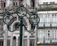Portugal. Porto stad. Oude lantaarn royalty-vrije stock foto's