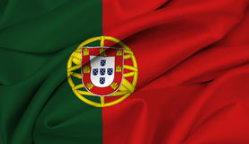 Portugal portugese bandery Zdjęcia Stock