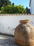 Portugal pottery. Beautiful yard in a summery day Royalty Free Stock Photos