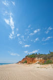 Portugal - Praia Garrao poente Royalty Free Stock Image