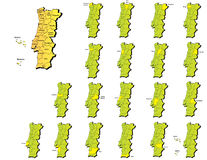 Portugal provinces maps Stock Photos