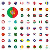 Portugal round flag icon. Round World Flags Vector illustration Icons Set. Stock Photography