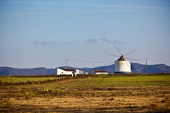 Portugal Rural Landscape with Old Windmill Stock Photo