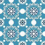 Portugal seamless pattern. Vintage mediterranean ceramic tile texture. Geometric tiles pattern. Decorative kitchen tiled ornament. Moroccan traditional mosaic vector illustration