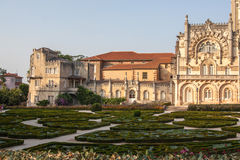 Portugal, Serra do Bussaco garden. Palace Hotel of Bussaco A Palace turned hotel in Serra do Bussaco, Portugal Royalty Free Stock Image