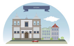 portugal Setubal Zdjęcie Royalty Free