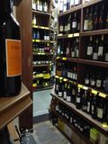 Wine store stock photo
