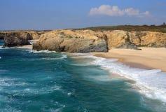 Portugal, Sines Vicentinekust en Zuidwestenalentejo Natuurreservaat stock afbeeldingen