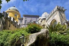 portugal sintra nationell slottpena Palacio Nacional da Pena Royaltyfri Foto