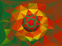 Portugal Soccer Ball Background Royalty Free Stock Image