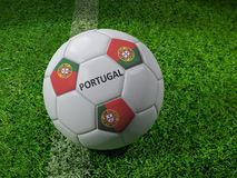 Portugal soccer ball Stock Images