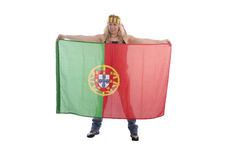 Portugal Soccer Fan Royalty Free Stock Photography