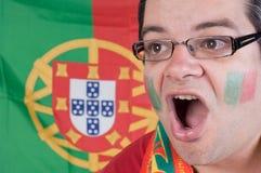 Portugal soccer fan stock image