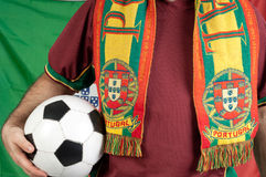 Portugal soccer fan royalty free stock photo