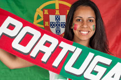 Portugal soccer fan Royalty Free Stock Photo