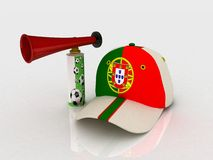 Portugal soccer hat Royalty Free Stock Photo