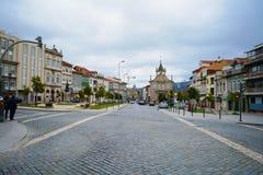 portugal Stad Väg gata crossing Landskap Braga royaltyfria foton