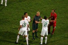 Portugal tegenover het Bepalende woord van de Kop van de Wereld van Malta FIFA Royalty-vrije Stock Afbeelding