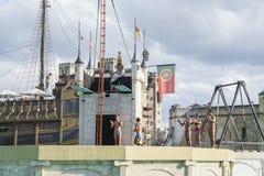 Portugal themed område - Europa parkerar i rost, Tyskland Fotografering för Bildbyråer
