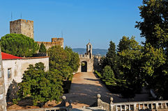 Portugal, Tomar: castle and convent of tomar Stock Image