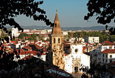 Portugal, Tomar; View Of The City Stock Image