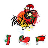 Portugal The Travel Destination logo Stock Photo