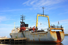 In Portugal a trawler fishing  boat Stock Images