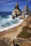 Portugal: Ursa beach bathing in sunshine Stock Photo