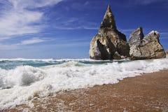Portugal: Ursa beach bathing in sunshine Royalty Free Stock Photos